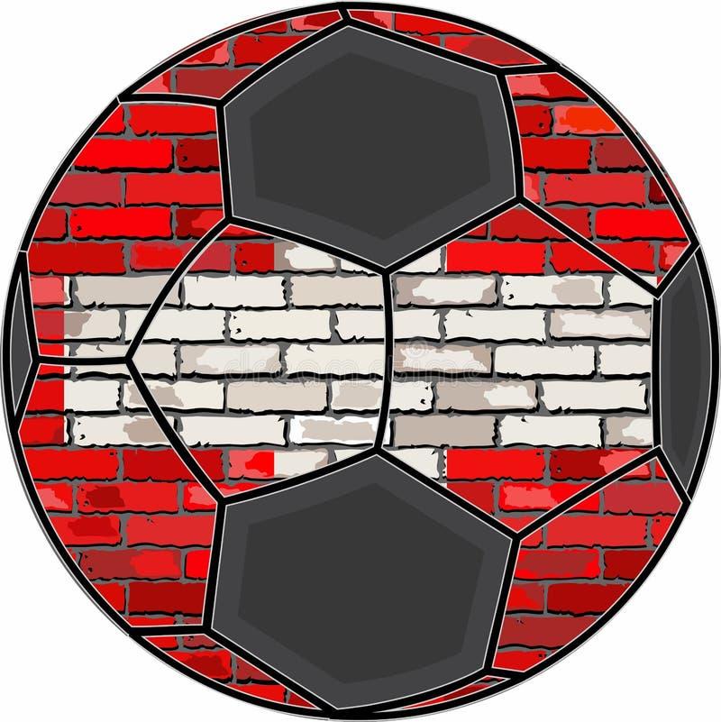 Die Schweiz-Flagge mit Fußballhintergrund lizenzfreie abbildung