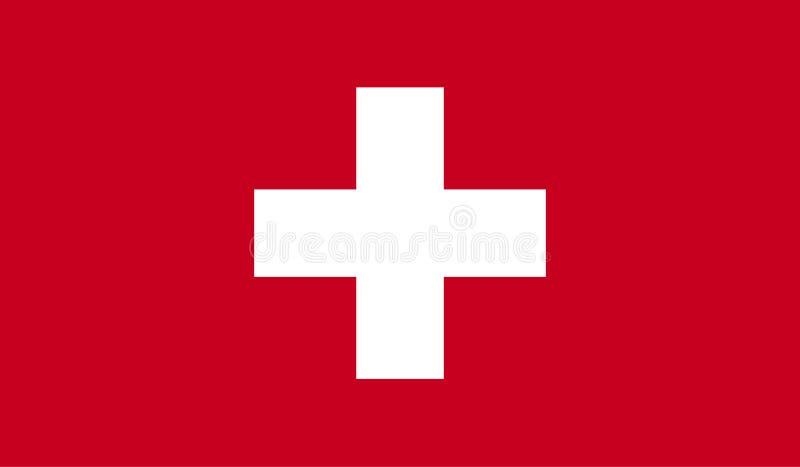 Die Schweiz-Flaggenbild vektor abbildung