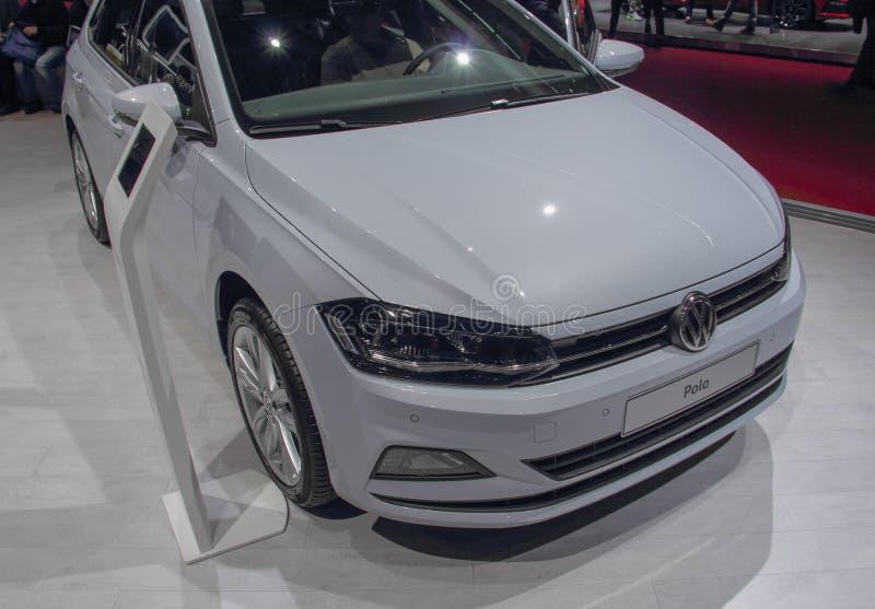 Die Schweiz; Genf; Am 8. März 2018; Volkswagen Polo; Das 88t lizenzfreie stockfotografie