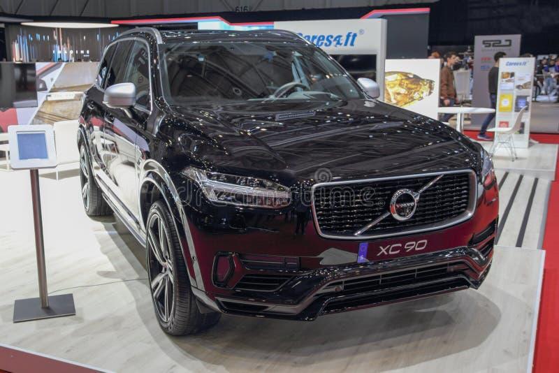 Die Schweiz; Genf; Am 9. März 2019; Volvo XC90; Die 89. Internationale Automobilausstellung in Genf von 7. bis 17. vom März 2019 lizenzfreie stockfotos