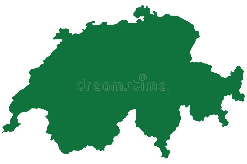 Die Schweiz-Karte lizenzfreie abbildung