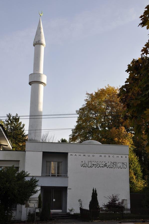 Die Schweiz: Mahmud Mosque in ZÃ-¼ reicher Stadt nahe Balgrist Hos stockbilder