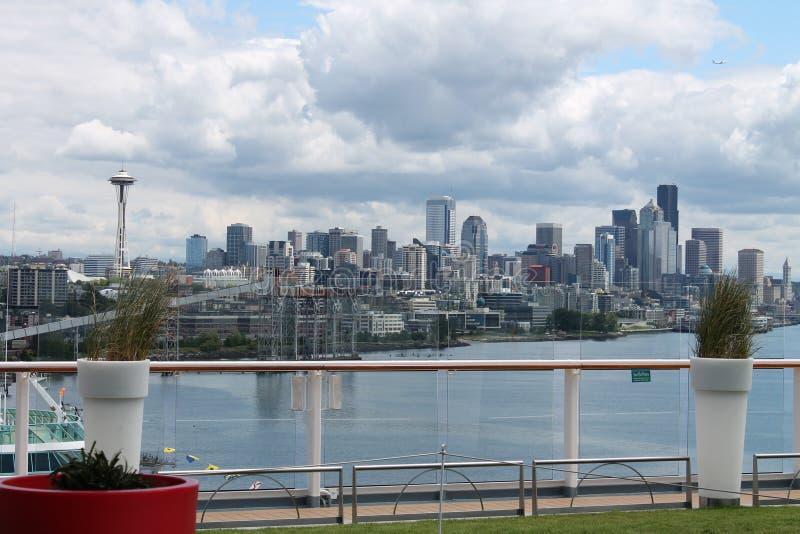 Die Seattle-Stadt lizenzfreie stockbilder