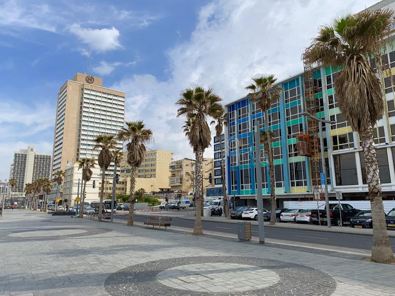 Die Seefront, Tel Aviv, Israel, Mittlere Osten stockfoto