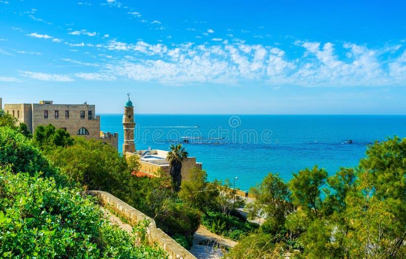 Die Seemoschee in Jaffa lizenzfreie stockbilder