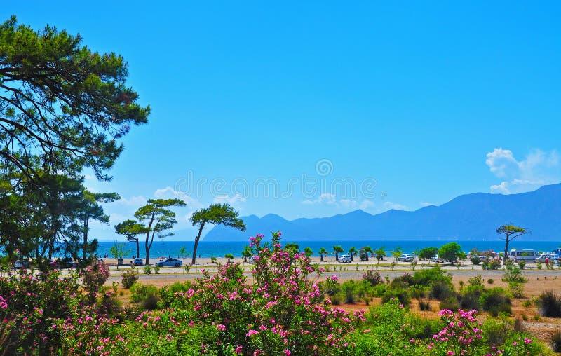 Die Seeseite in der Türkei stockfotografie