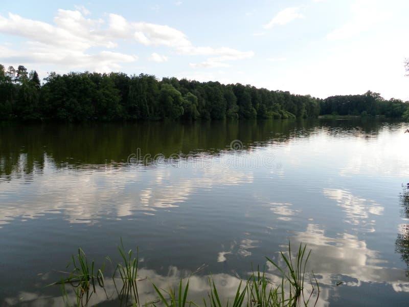 Download Die Seeuferansicht Wolken Reflektiert Im See Sommer, See Stockbild - Bild von ansicht, blau: 96930143