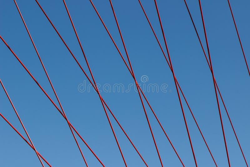 Die Seilhängebrücke stockbild