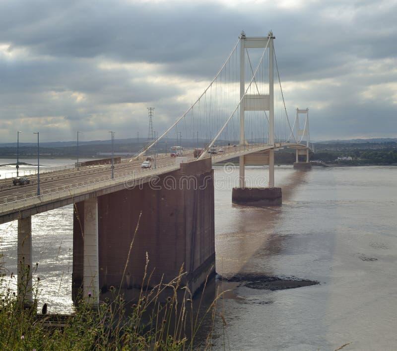 Die Severn Brücke stockbilder