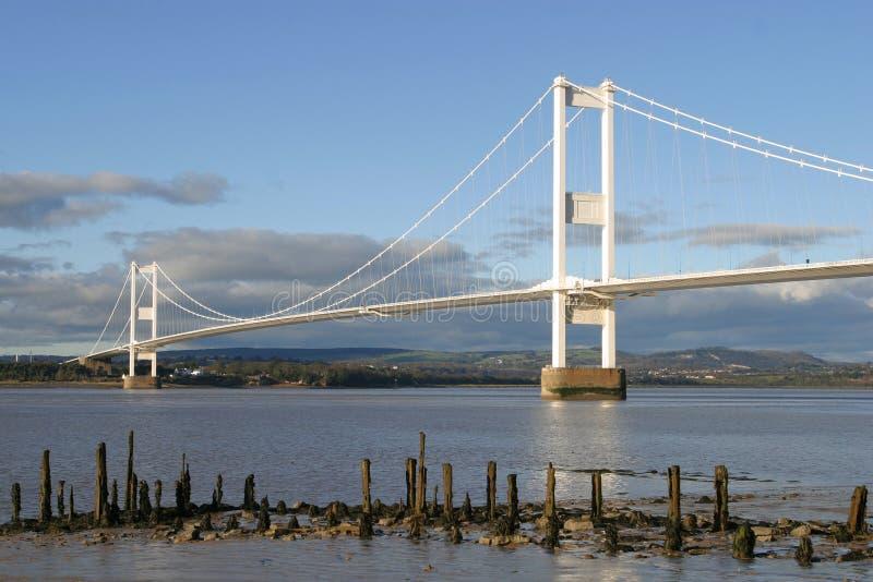 Die Severn Brücke stockbild