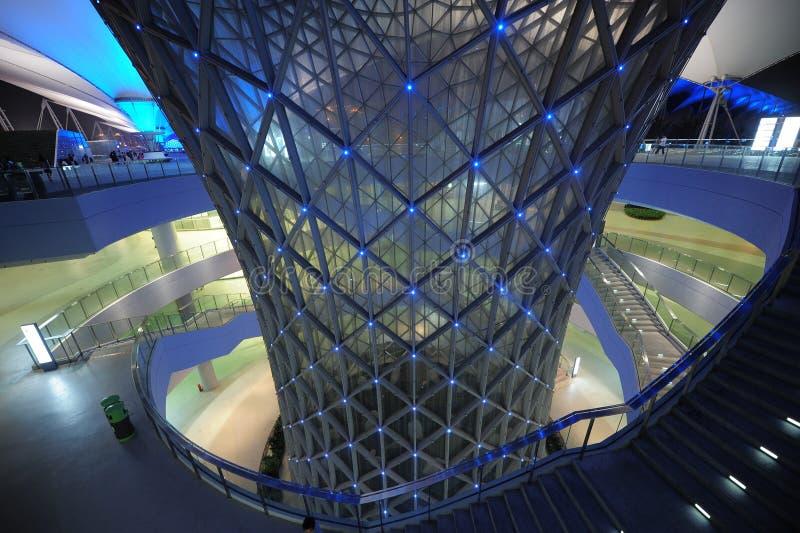 Die Shanghai-Weltausstellungs-Achsenspur 2010 stockfotos