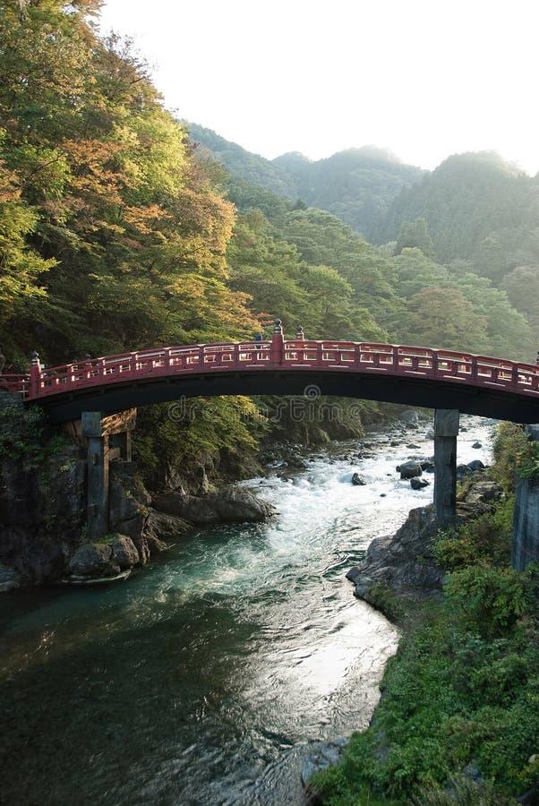 Die Shinkyo Brücke von Nikko, Japan lizenzfreies stockbild