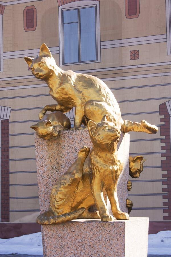 Die sibirischen Katzen quadratisches Tyumen, am 18. März 2016 lizenzfreies stockbild