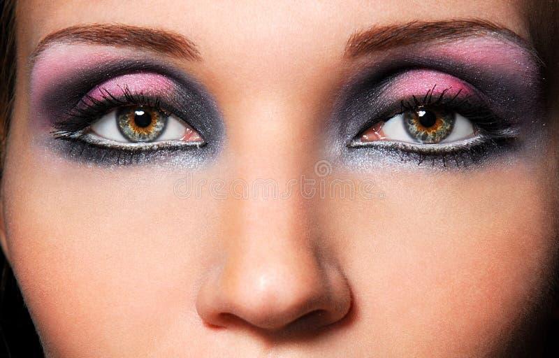 Die sinnlichen Augen lizenzfreie stockbilder