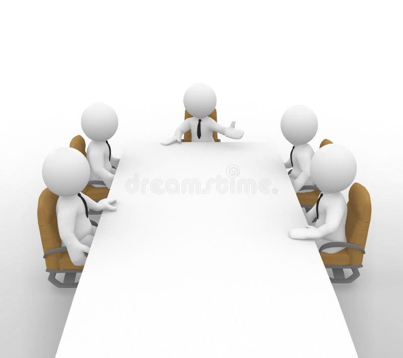 Die Sitzung stock abbildung