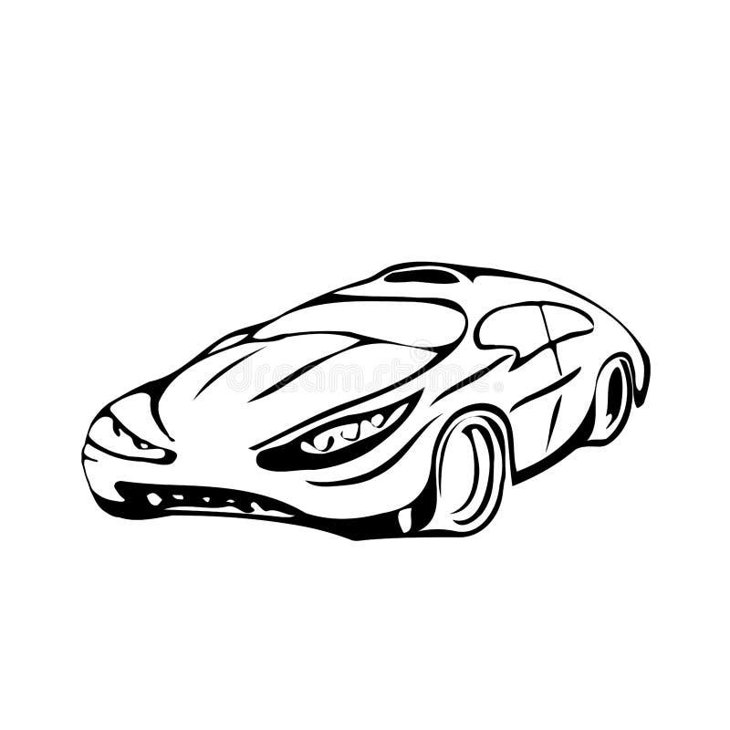 Die Skizze Ist Stilvolles Auto Vektor Abbildung - Illustration von ...