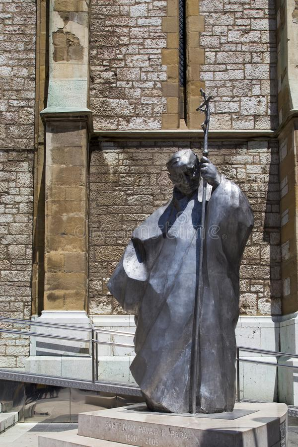 Die Skulptur in der heiligen Herz-Kathedrale, Sarajevo stockfotografie