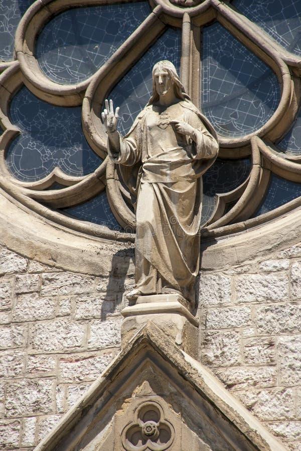 Die Skulptur in der heiligen Herz-Kathedrale, Sarajevo lizenzfreies stockbild