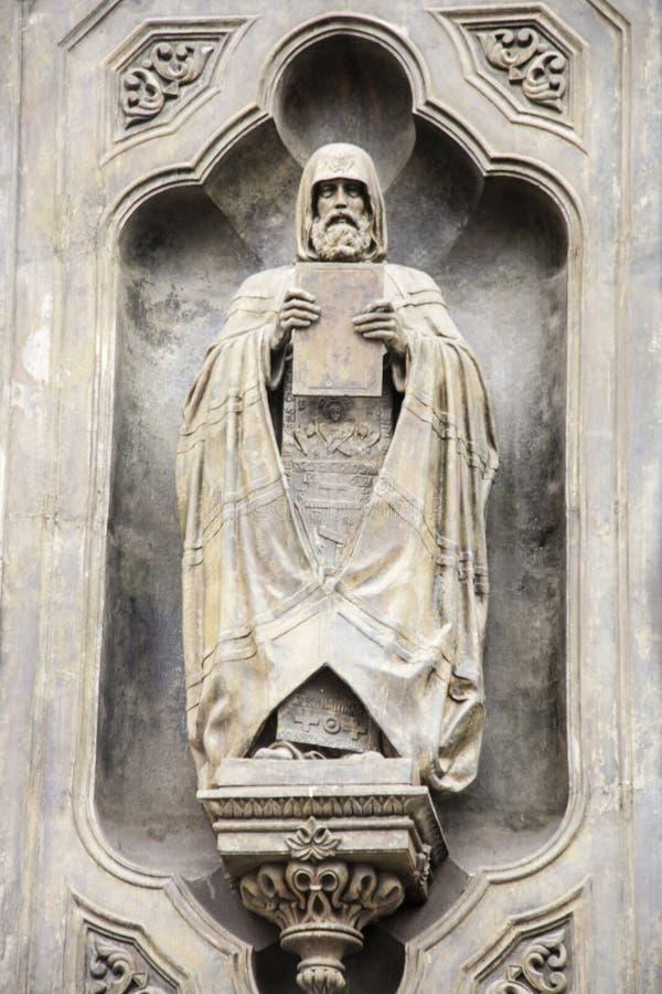 Die Skulptur der Kathedrale von Christus der Retter in Moskau lizenzfreies stockfoto