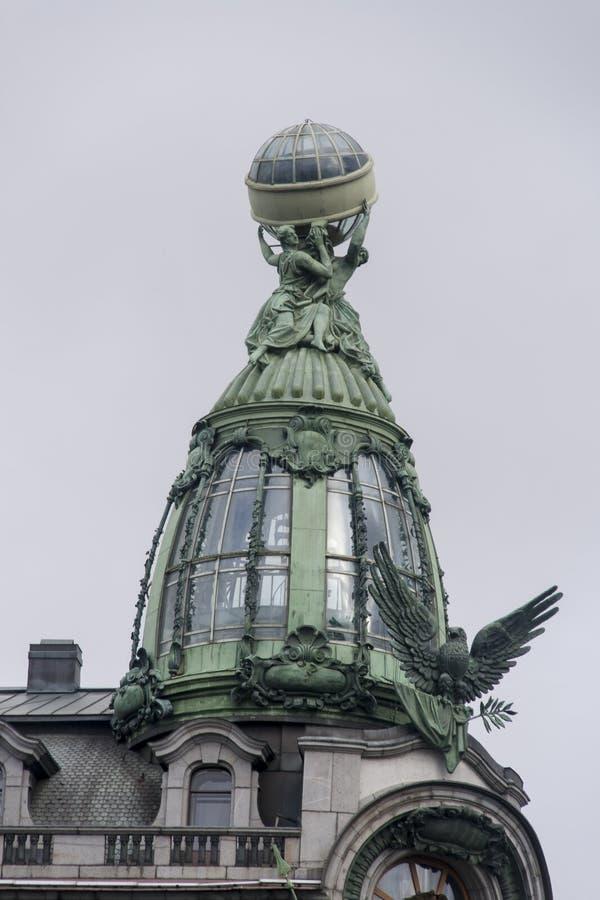 Die Skulptur in Kasan-Kathedrale, St.-peterburg stockfoto