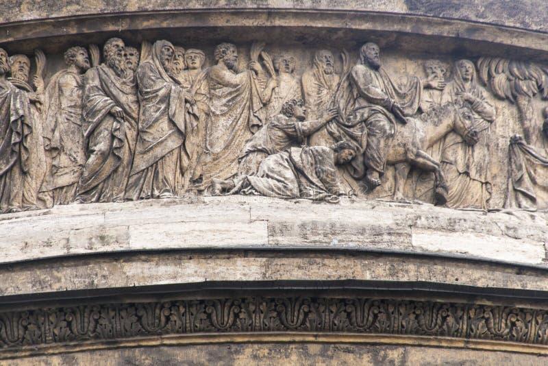 Die Skulptur in Kasan-Kathedrale, St.-peterburg lizenzfreies stockfoto