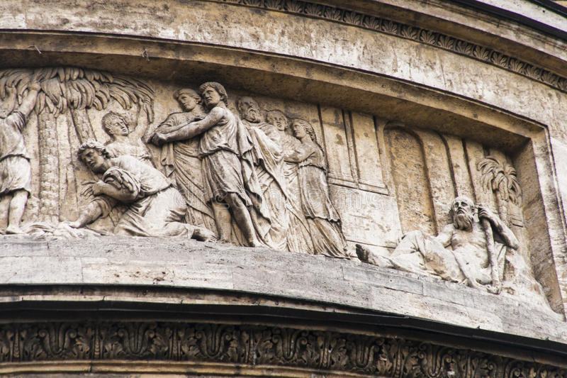 Die Skulptur in Kasan-Kathedrale, St.-peterburg, Russland stockfoto