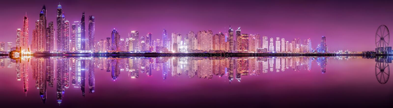 Die Skyline von Dubai-Jachthafen stockbild