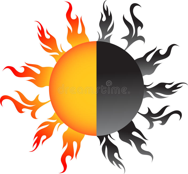 Die Sonne vektor abbildung