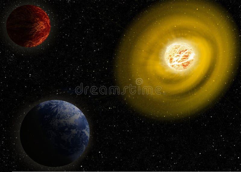 Die Sonne die rote riesige Illustration Elemente dieses Bildes geliefert von der NASA lizenzfreie abbildung