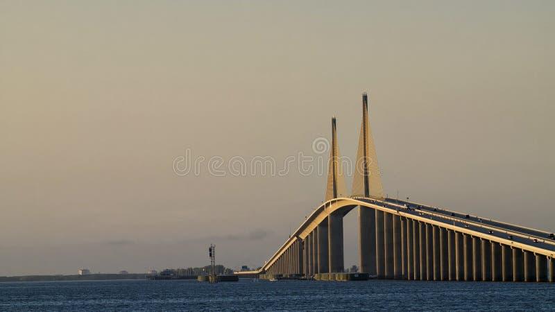 Die Sonnenschein Skyway Brücke stockfotos