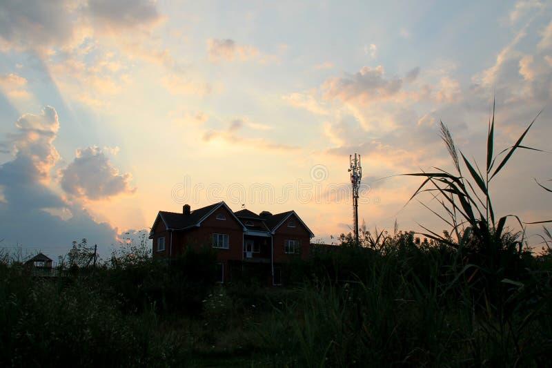 Die Sonnenunterganglandschaft stockfotografie