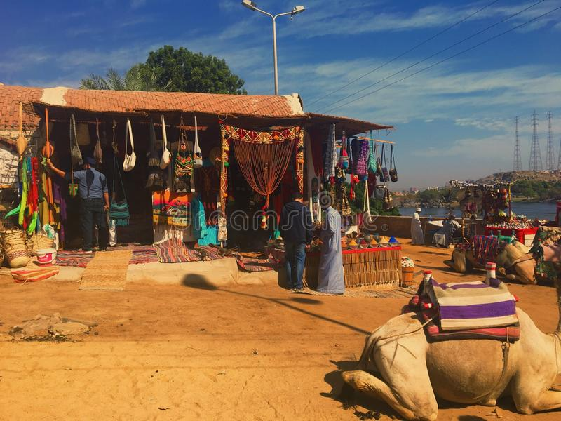 Die souks von Nubia lizenzfreie stockbilder