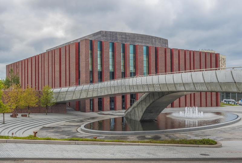 Die sowjetische Architektur von Katowice, Polen lizenzfreie stockbilder