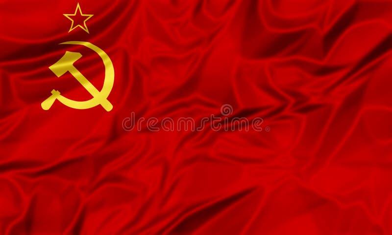 Die Sowjetunion-Markierungsfahne lizenzfreie abbildung