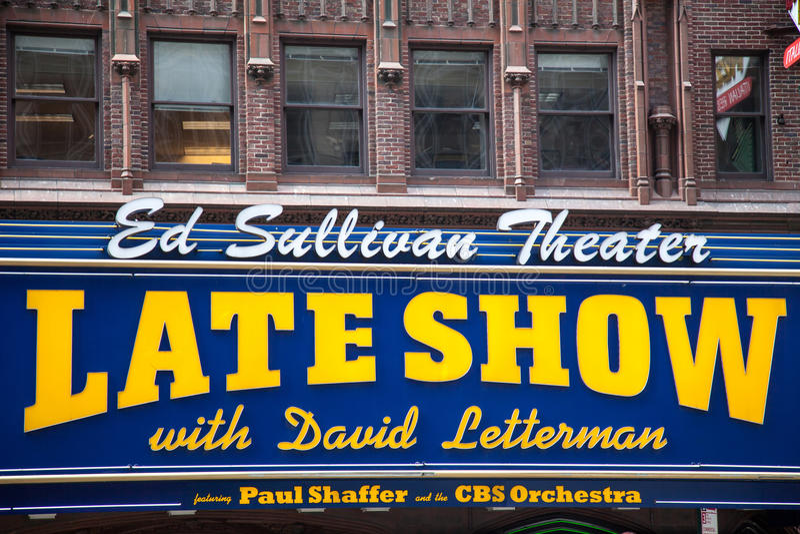 Die späte Show mit David Lettermann stockfotografie