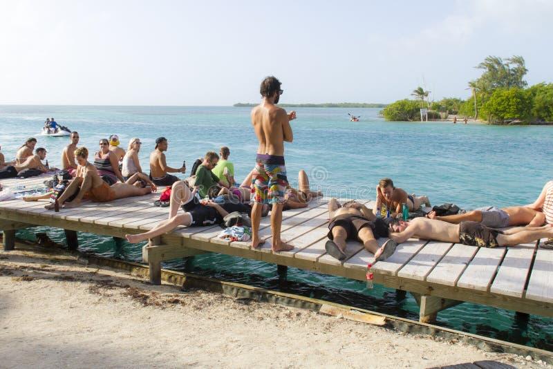 Die Spalte, Caye-Kalfaterer, Belize stockfotografie