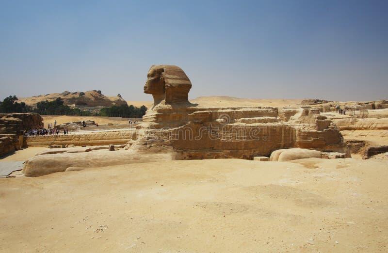 Die Sphinx in Ägypten lizenzfreies stockbild