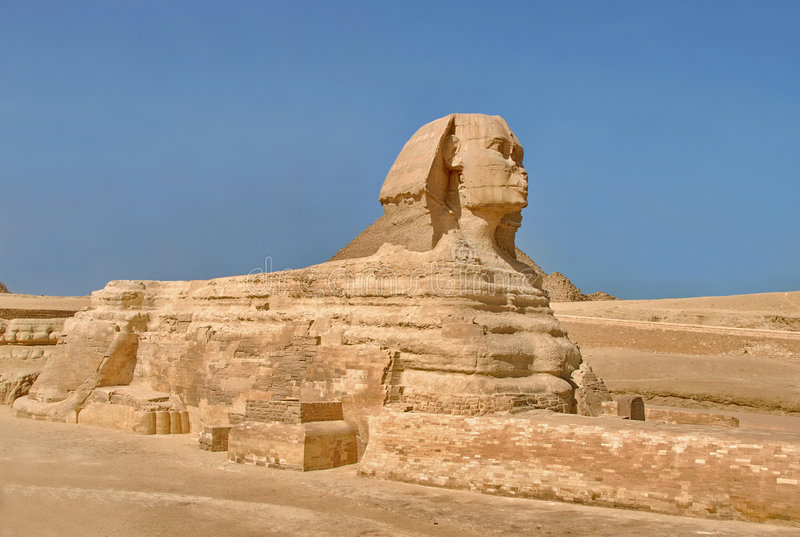 Die Sphinx stockfoto