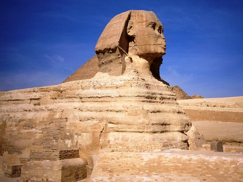 Die Sphinx in Kairo in Ägypten stockbilder