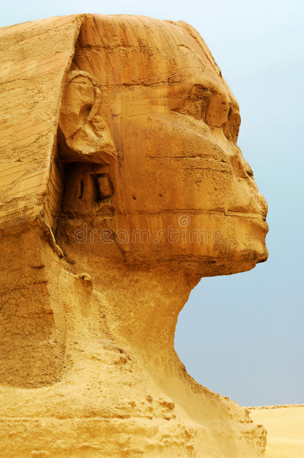 Die Sphinx und die Pyramiden lizenzfreie stockbilder