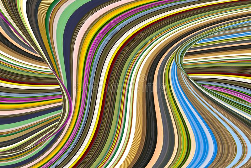 Die Spirale, die mit Welle Mehrfarben ist, schalten Spitzenzusammenfassung ein lizenzfreies stockbild