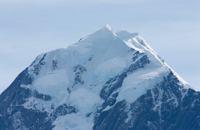 Die Spitze von Aoraki/Mt Kochen Sie bedeckte im Schnee in der Südinsel in Neuseeland lizenzfreies stockbild