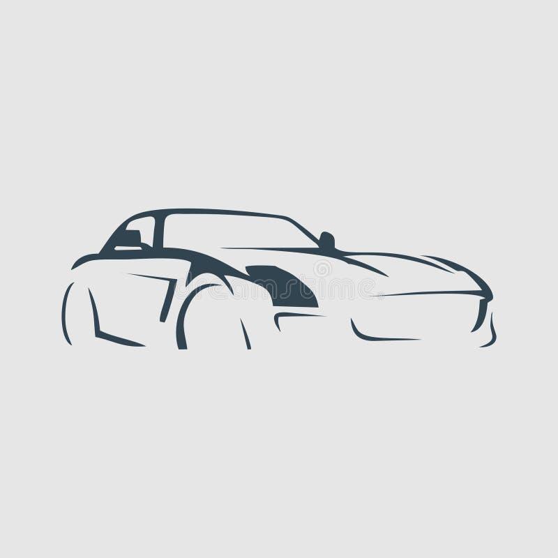 Die Sportwagenmonogramm-Logoinspiration lizenzfreie stockbilder