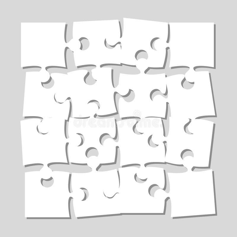 Die 16 Stücke verwirren Fahnen-Laubsäge des Schildes lizenzfreie abbildung