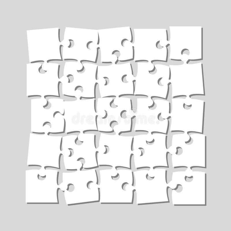 Die 25 Stücke verwirren Fahnen-Laubsäge des Schildes lizenzfreie abbildung