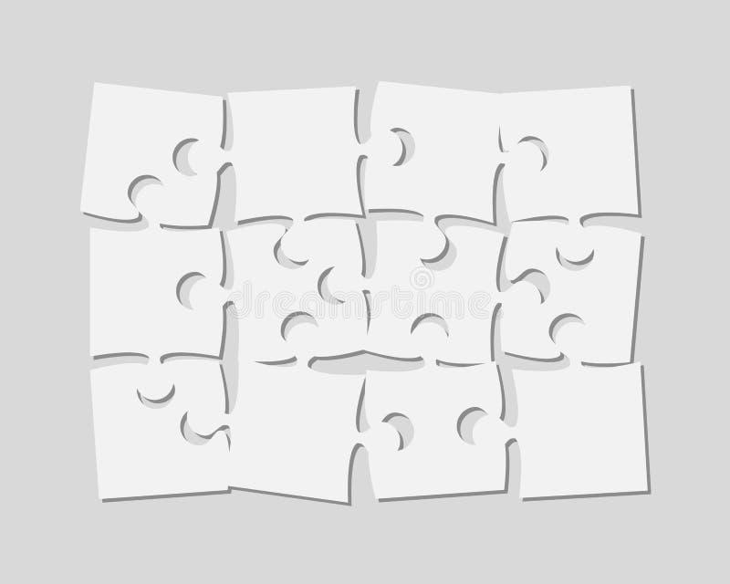 Die 12 Stücke verwirren Fahnen-Laubsäge des Schildes stock abbildung
