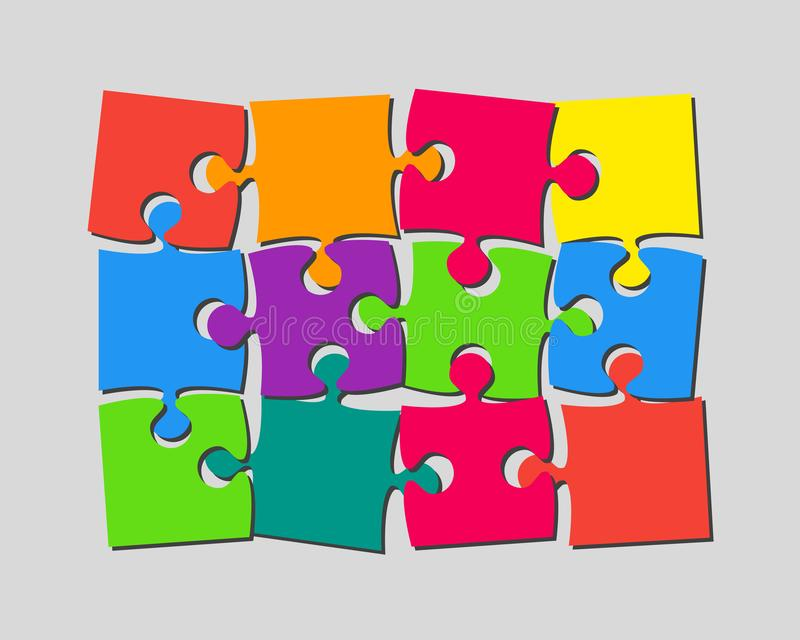 Die 12 Stücke verwirren Fahnen-Laubsäge des Schildes lizenzfreie abbildung