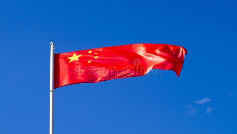 Die Staatsflagge des Landes China stockfotos