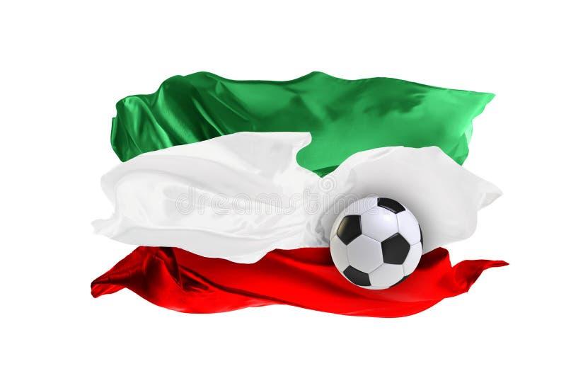Die Staatsflagge vom Iran Fußball-Weltmeisterschaft Russland 2018 lizenzfreie stockfotografie
