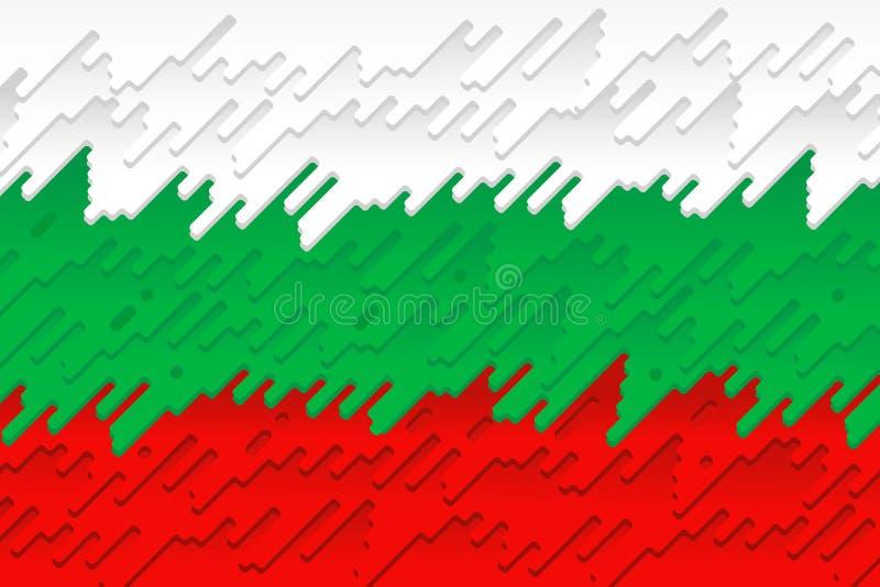 Die Staatsflagge von Bulgarien vektor abbildung